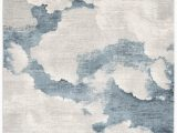 Light Blue and Cream area Rugs Kraus Abstract Cream Light Blue area Rug
