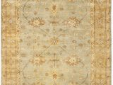 Light Blue and Gold area Rug Amazon Safavieh Oushak Collection Osh151a Hand Knotted