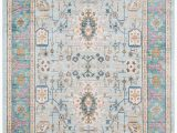 Light Blue and Pink Rug Shabby Chic Teal Blue Pink area Rug