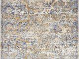 Light Blue and Tan area Rug Koury oriental Light Blue Tan area Rug
