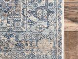 Light Blue area Rug 6×9 area Rug Oushak Rug Turkish Rug Vintage Rug orange