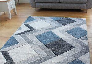 Light Blue Geometric Rug Small Light Blue Beige Cream Silver Grey Geometric Design Rugs Runners Mats 66x230cm Runner