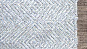 Light Blue Nursery Rug Hand Woven Ago Rug Color Light Blue Size 76 X 96