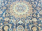 Light Blue Persian Rug Light Blue Nain Rug Genuine Handmade Persian Rug