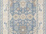 Light Blue Rug 9×12 Momeni Anatolia Wool and Nylon area Rug 99 X 126 Light Blue