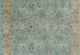 Light Blue Wool area Rug E Of A Kind Dannie Hand Knotted Light Blue Wool area Rug