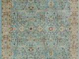 Light Blue Wool Rug E Of A Kind Dannie Hand Knotted Light Blue Wool area Rug