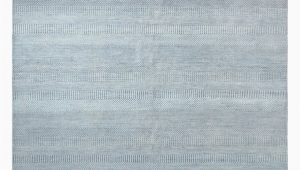 "Light Blue Wool Rug solid Handmade area Rug8 1"" X 9 11"""