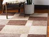 Light Brown area Rug 8×10 Unique Loom Autumn Collection Abstract Checkered Casual Warm toned Light Brown area Rug 5 0 X 8 0