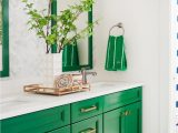 Light Green Bathroom Rugs Green and Neutral Bathroom with Mirrors Patterned Wallpaper