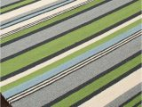 Lime Green and Grey area Rugs Lime Green and Blue Striped area Rug