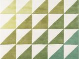"""Lime Green and Grey area Rugs Novogratz Delmar Collection Agatha Side Triangles area Rug 3 6"""" X 5 6"""" Lime Green"""