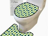 Lime Green Contour Bath Rug Bathroom Rug toilet Sets Line Pattern Dotted Lin Lime Green