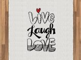 Live Laugh Love area Rugs Amazon Ambesonne Live Laugh Love area Rug Vintage Hand