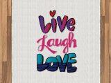 Live Laugh Love area Rugs Amazon Ambesonne Live Laugh Love area Rug Vintage