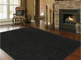 Living Room Large area Rugs Shaggy Extra Black area Rug