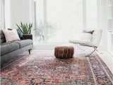Living Rooms with Large area Rugs Bold area Rug Vintage Heriz with Red and Blue Colours
