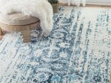 Living Spaces Blue Rug Incredible Large Modern Distressed Look Rug Perfect for