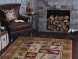 Lodge area Rugs 8 X 10 8 X 10 Tan Brown and Blue area Rug Nature