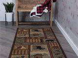 "Lodge area Rugs 8 X 10 Multi Color Lodge Transitional area Rug 8×10 Carpet Actual 7 10"" X 10 3"""