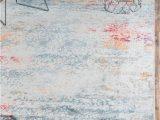 Lonerock Cream Blue area Rug Lonerock Abstract Cream Blue area Rug with Images