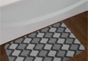 Long Black Bathroom Rug Grey Black Micro Cotton Chenille Oversized Bath Rug 22 Inch