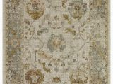 Low Pile White area Rug Alcantras Collection Low Pile Distressed oriental Medallion area Rug G0397 Beige & Cream – Beverly Rug
