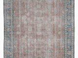 Low Pile Wool area Rug 8×11 Beige Handmade Low Pile Wool Oversize Vintage