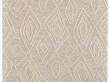 Low Pile Wool area Rug Kimberly Geometric Handmade Tufted Wool Ivory Natural area Rug