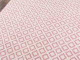 Low Pile Wool area Rug Sintra Pink Cotton Wool High Low Pile area Rug