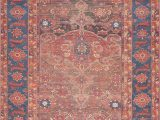 Lucca Red Blue Rug Lucca Lf 07 Rust Blue area Rug Magnolia Home by Joanna