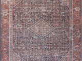Lucca Red Blue Rug Lucca Lf 08 Navy Red area Rug Magnolia Home by Joanna