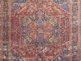 Lucca Red Blue Rug Lucca Lf 09 Red Blue area Rug Magnolia Home by Joanna