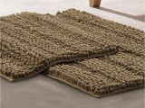 Luxurious Loop Chenille Bath Rugs Modern Threads Chenille Noodle Bath Mat 2 Piece Set Taupe