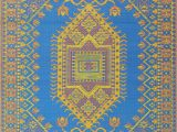 Mad Mats Turkish Outdoor area Rug Mad Mats oriental Turkish Indoor Outdoor Floor Mat 5 by 8 Feet Blue