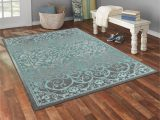Mainstays 5 X 7 area Rug Mainstays India Medallion Textured Print area Rug and Runner Collection Gray Blue 5 X 7