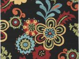 Maples Paisley Floral area Rug Storm area Rug Black Multi Color