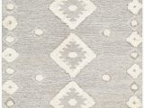 Margaret Modern Bohemian Beige area Rug Revere Hand Tufted Wool Navy area Rug