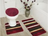 Maroon Bathroom Rug Sets Abby 3 Piece Bathroom Rug Set Bath Rug Contour Rug Lid