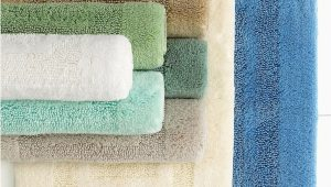 "Martha Stewart Memory Foam Bath Rug Martha Stewart Collection Plush Squares Cotton 17 X 24"" Bath Rug Ivory"