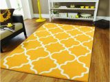 Mat for Under area Rug Large 8×11 Morrocan Trellis area Rug Yellow Modern area