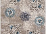 Mcelrath Blue Brown area Rug Kent Distressed Contemporary Taupe Blue area Rug