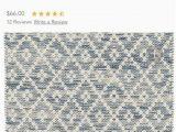 Melange Diamond Blue Woven Cotton Rug Dash & Albert Melange Diamond Blue Hand Woven Cotton Rug Nwt