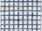 Melange Diamond Blue Woven Cotton Rug Denim Rag Squares Woven Cotton Rug