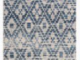 Melange Diamond Blue Woven Cotton Rug Ombre Diamond Blue Woven Cotton Rug