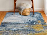Melrose Modern Geometric Ivory Blue area Rug by Home Dynamix Heilman Abstract Blue area Rug
