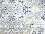 "Melrose Modern Geometric Ivory Blue area Rug by Home Dynamix Home Dynamix Melrose Audrey area Rug 7 10""x10 2"" Rectangle Ivory Blue"