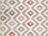 """Melrose Modern Geometric Ivory Blue area Rug by Home Dynamix Home Dynamix Melrose Maritza area Rug 6 6"""" X 9 6"""" Rectangle orange Ivory"""