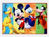 Mickey and Minnie area Rug Disney Mickey Donald Pluto and Goofy Rug In 2020