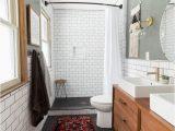 Mid Century Modern Bath Rug Modern Bathroom with Subway Tile Reveal